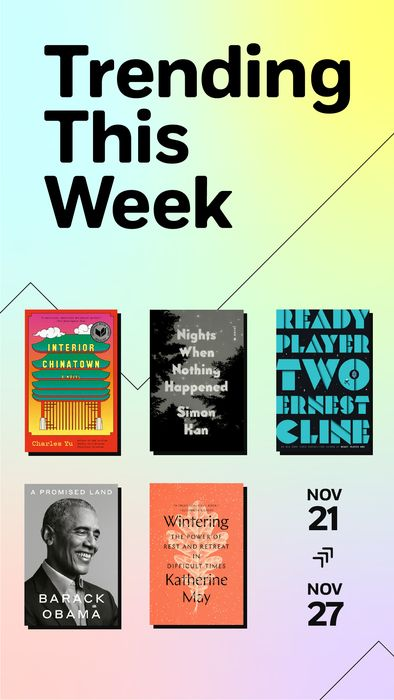 Read the books that everyone's buzzing about this week. Fnd books suited to every taste: from Barack Obama's memoir, A Promised Land to Charles Yu's National Book Award-winning novel, Interior Chinatown to Ernest Cline's fantasy novel, Ready Player Two to Katherine May's inspirational guide to self-care, Wintering, to Simon Han's knockout novel, Nights When Nothing Happened.