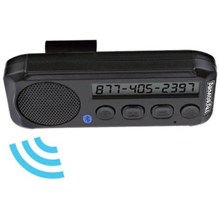 Armor All Hands Free Bluetooth Speakerphone With Visor Clip And Caller Id Caller Id Phone Speaker