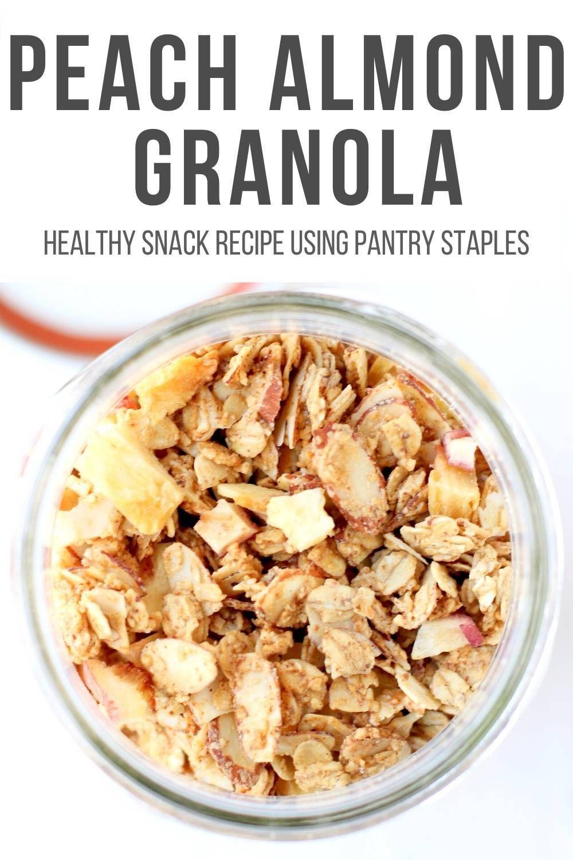 Easy peach almond granola recipe in 2020 almond