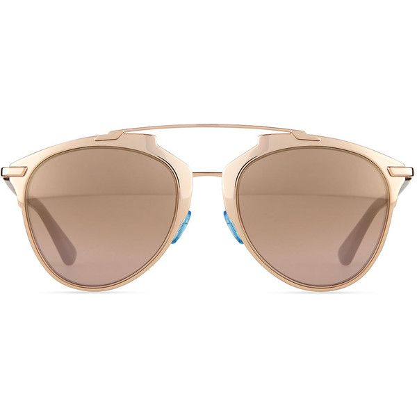 2042aa62fe34 Dior Peaked Aviator Sunglasses ($435) ❤ liked on Polyvore featuring  accessories, eyewear, sunglasses, metal frame glasses, christian dior,  christian dior ...