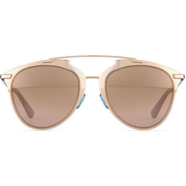 44da57cd178b Dior Peaked Aviator Sunglasses ($435) ❤ liked on Polyvore featuring  accessories, eyewear, sunglasses, metal frame glasses, christian dior,  christian dior ...