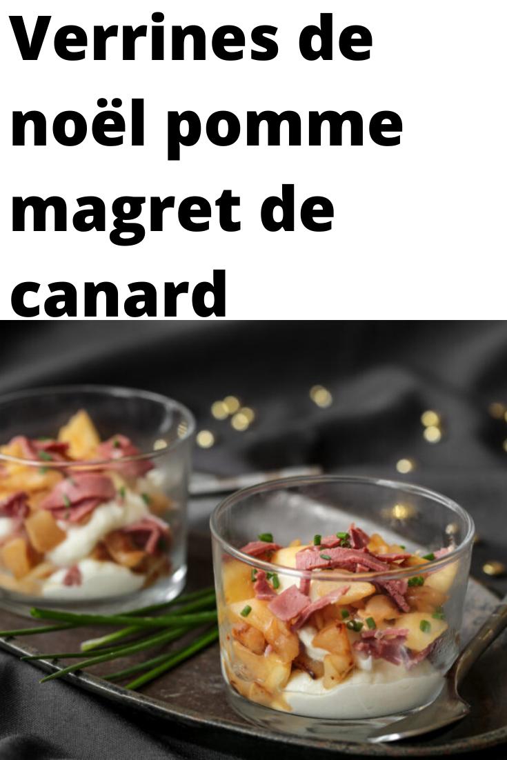 Verrines de noël pomme magret de canard #verrinessalees