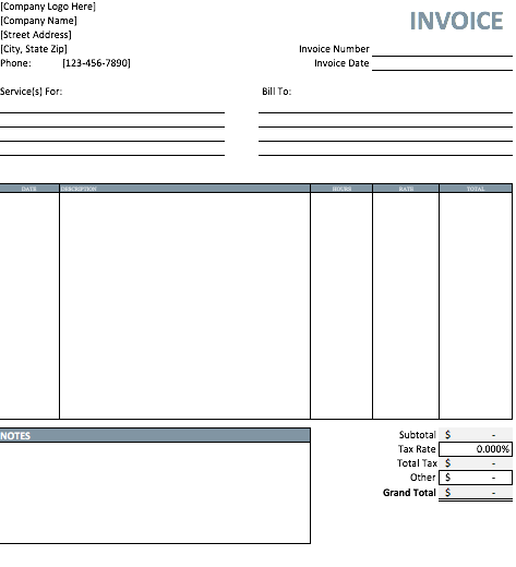 Invoice Templates Word 10 Free Invoice Templates  Word Excel & Pdf Templates  Www .