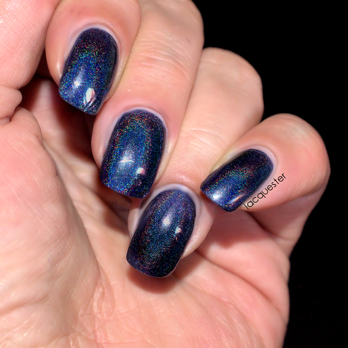 Blue Matter - A very dark blue holographic nail polish | shops ...
