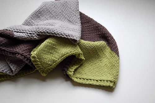a blanket knit on the bias.