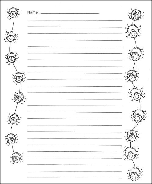 Download this free spider themed writing paper it is good for Themed printer paper