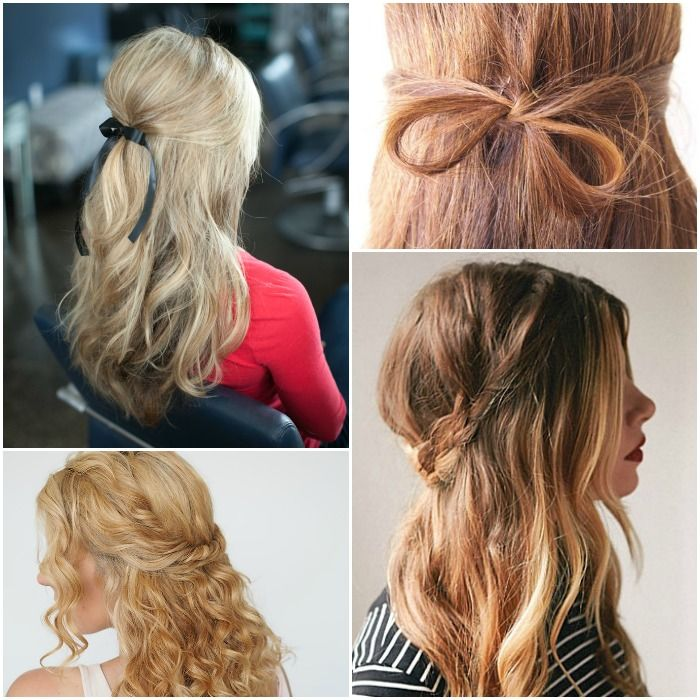 Simple Hairstyles 15 Simple Hairstyles That Are Half Up Half Down  Simple Hairstyles
