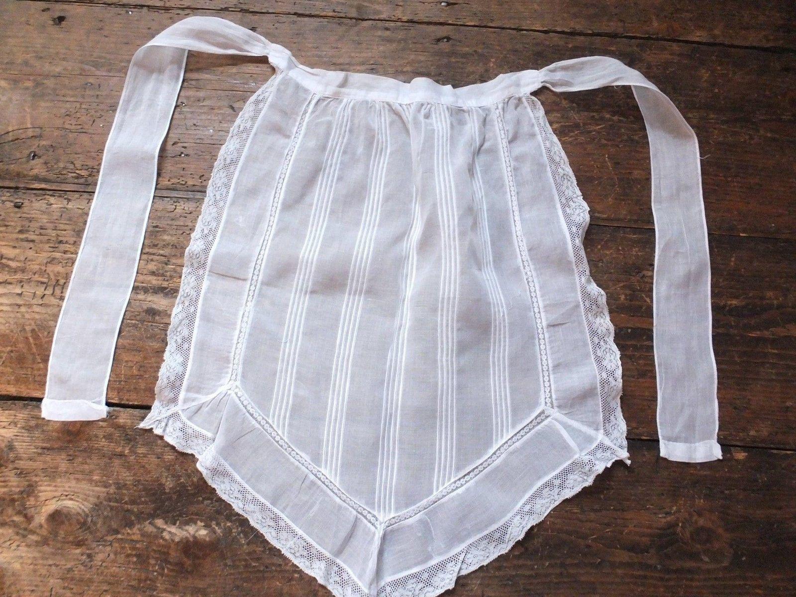 White lace apron ebay - Vintage C1920 S Maid Or Waitress Apron Brilliant White Lace Edged Theatre Etc Ebay