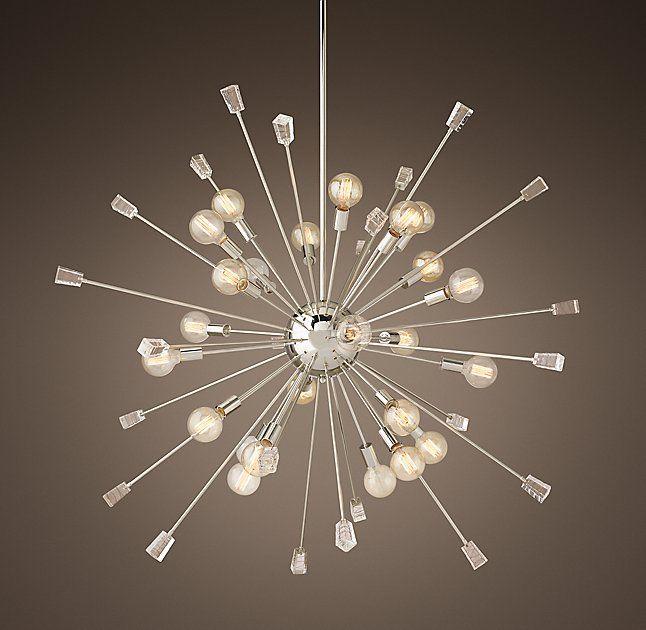 Italian Starburst Chandelier 58  - cool foyer chandelier option. & Italian Starburst Chandelier 58