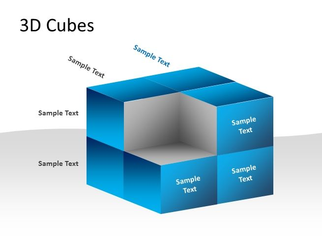 D Cubes Template For PowerpointPptx Powerpointpresentation Ppt