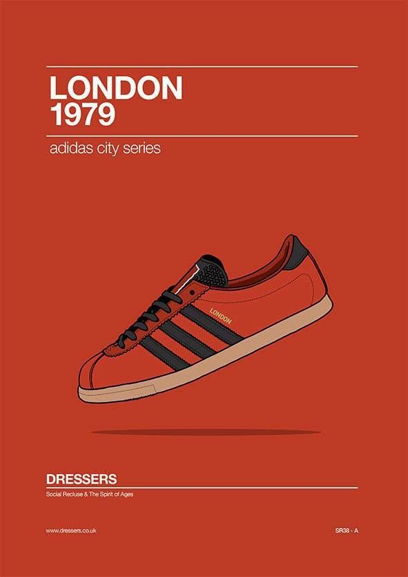 Adidas London Artwork Celebrating The Original 1979 London Release