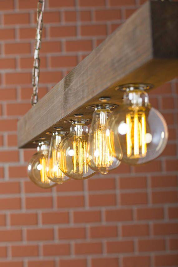 Photo of Deckenleuchte, Holzleuchte, Altholzlicht, Rustikales Licht, Hausleuchte, Rustikale Beleuchtung, Küchenbeleuchtung, Restaurantbeleuchtung