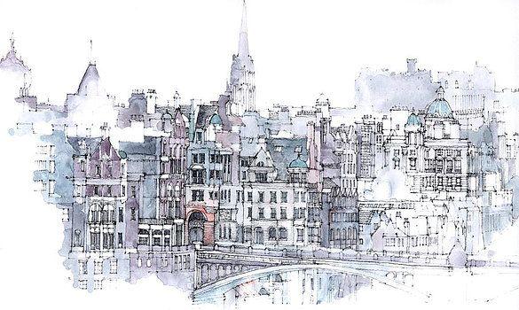 Edinburgh skyline by Simone Ridyard