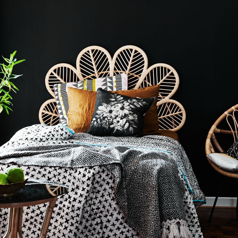 King Petal Bed Headboard Furniture Website Rattan