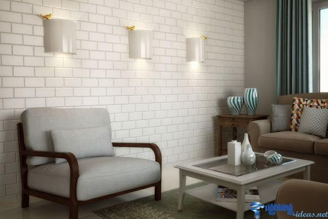 White designer wall lights with the golden bird Wall Lighting