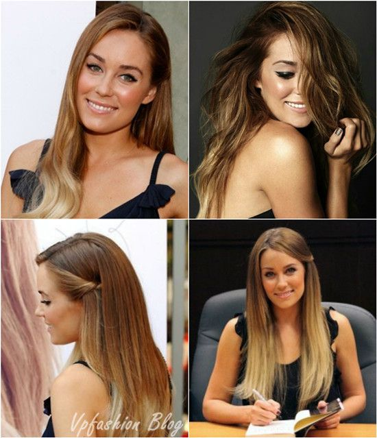Summer ombre hair styles makeup outfit transformation lauren conrad brown to blonde ombre hair color urmus Image collections