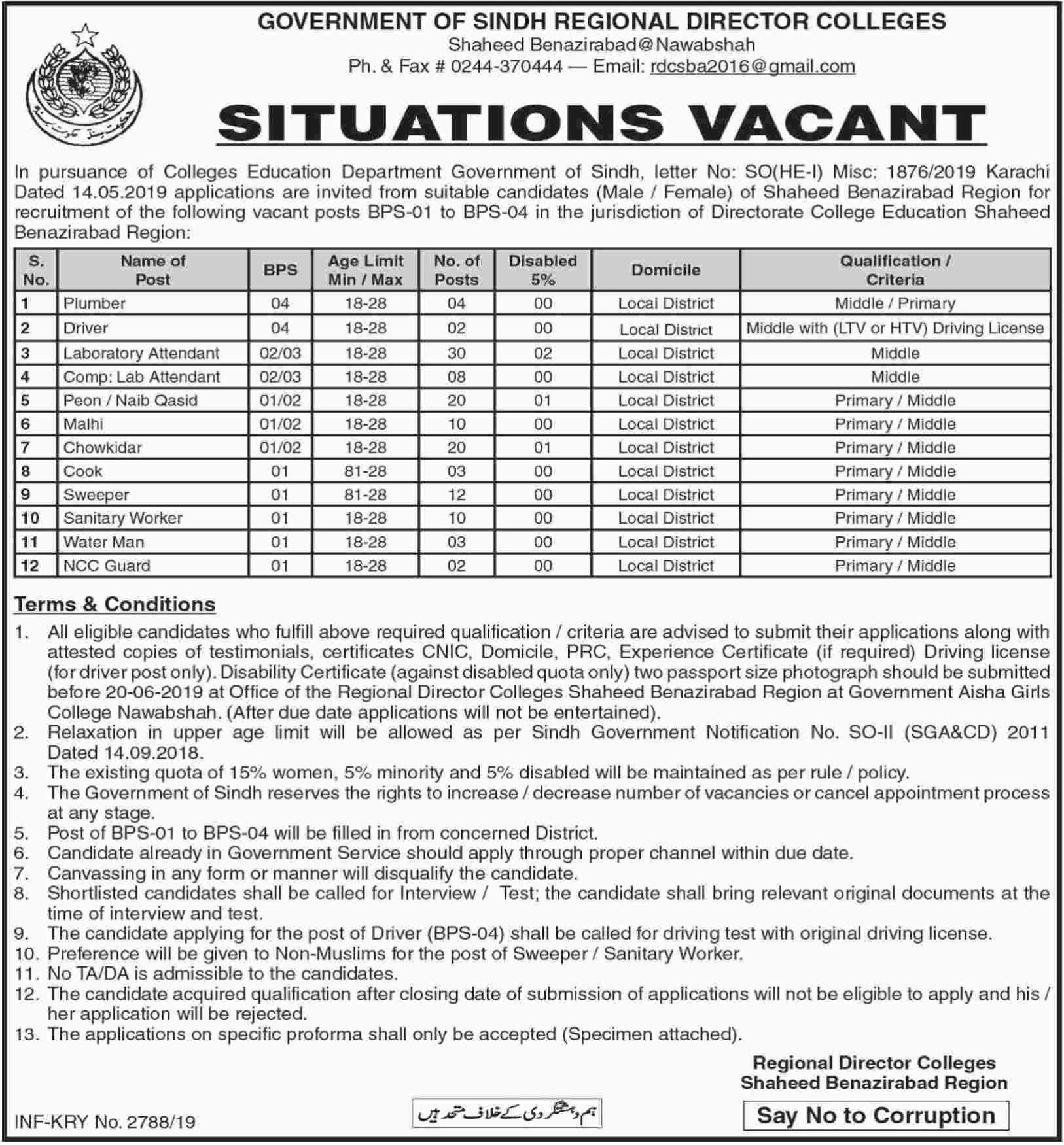 Directorate College Education Jobs In Pakistan May 2019 More Then 100 Vacancies Have Announced By Directorate Education College Education Jobs Online Learning