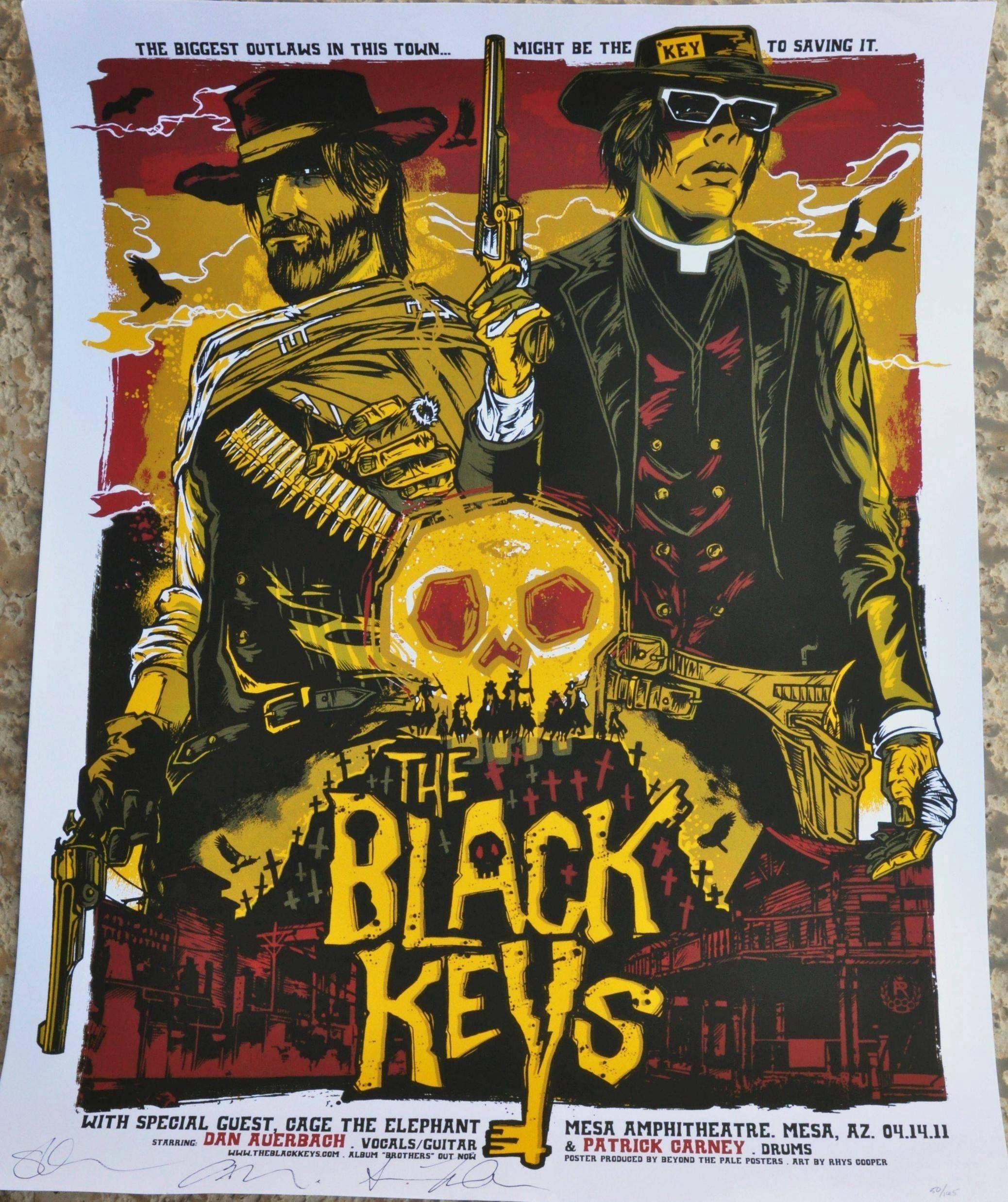Best concert poster concert posters the black keys poster
