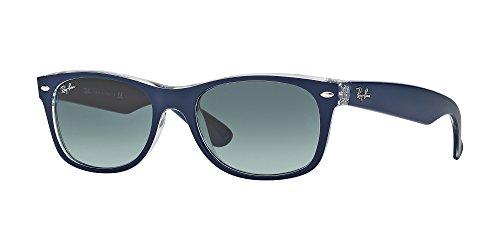Ray Ban New Wayfarer 52m Matte Blue On Transparent Grey Gradient Sunglasses Clout Designer Cloutclothes Com Sunglasses Wayfarer Sunglasses Sunglasses Women