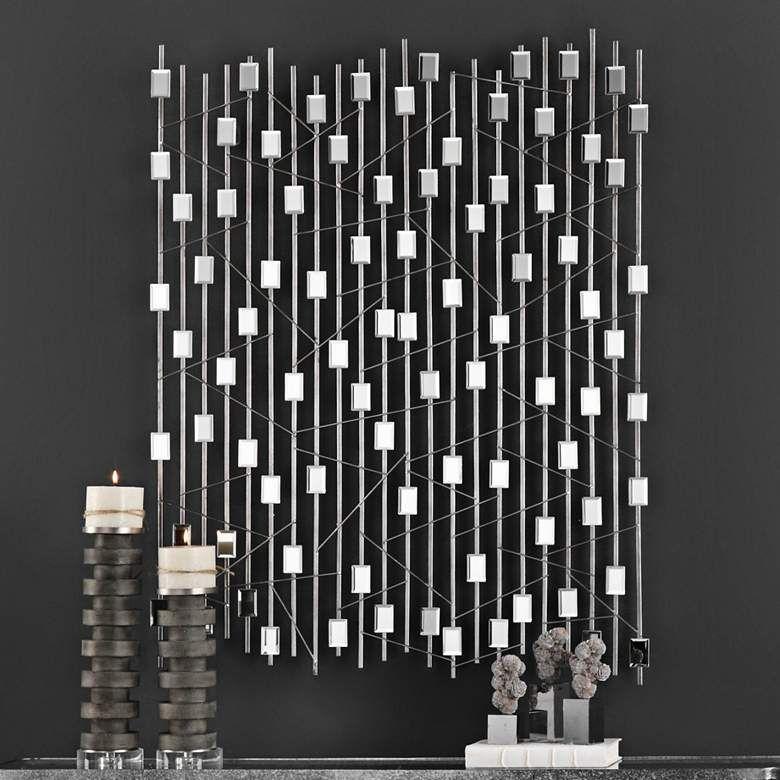 Uttermost Iker 47 High Metal Wall Art 35g77 Lamps Plus In 2020 Metal Wall Art Diy Metal Wall Art Wall Sculpture Art
