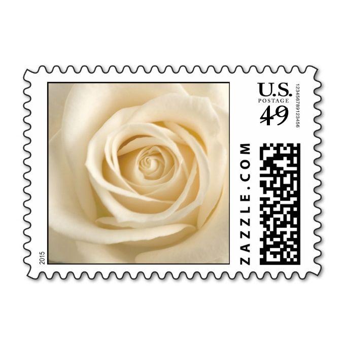 Ivory Rose Wedding Postage   Zazzle com   Modern Wedding