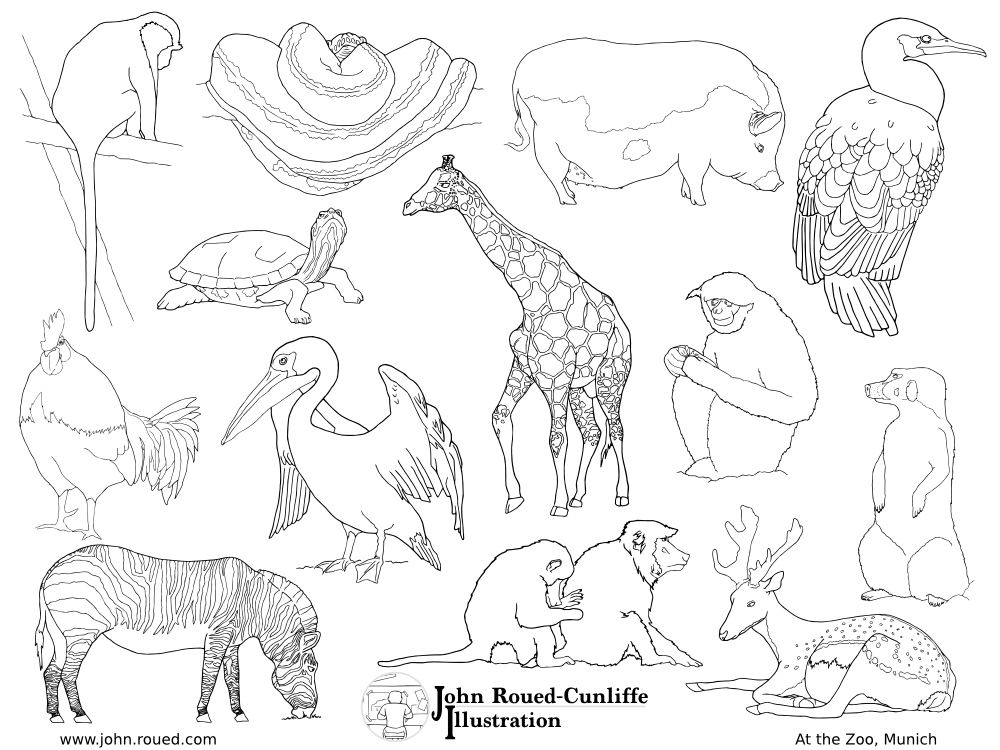 Eddie\'s Room » Printable animals from Munich Zoo – FREE giraffe ...