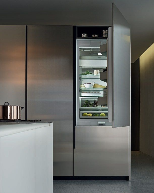 Steel and wood kitchen with peninsula PHOENIX by Varenna by Poliform ...