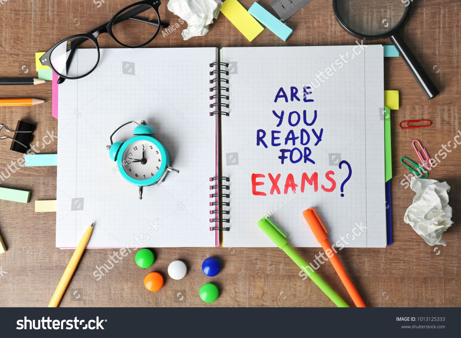 Notebook With Question Are You Ready For Exams And