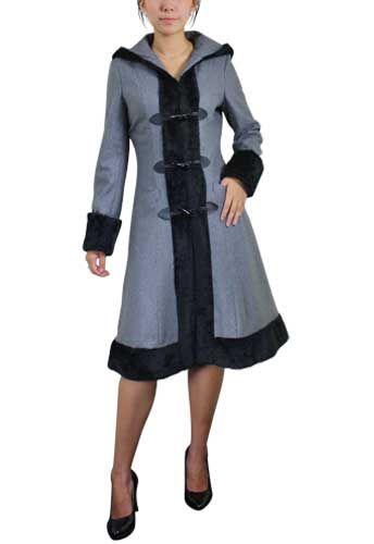 Grey Wool Cap Coat from chicstar.com