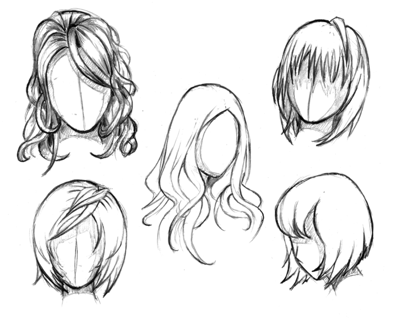 Manga hair reference sheet 1 - 20130112 by StyrbjornA on ...