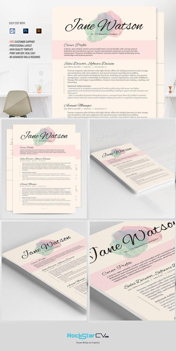 Resume Template CV Kiania Cv template, Resume ideas and Resume cv