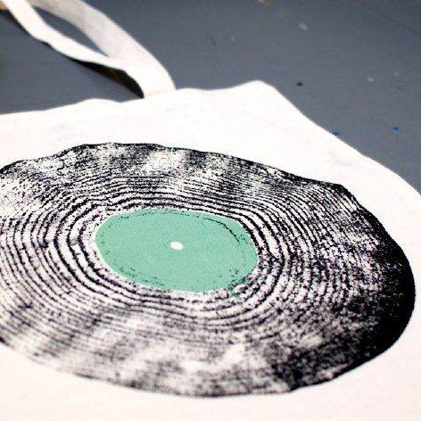 Long Play untitled – (green) tote bag jollygoodfellow