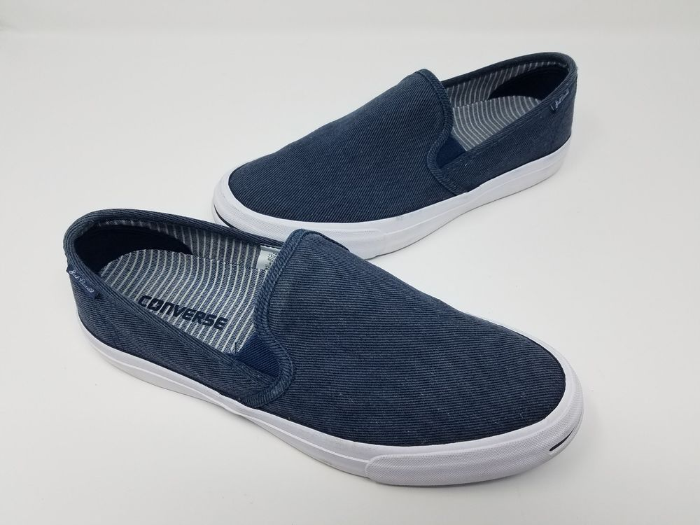 cebd7941633 Converse X Jack Purcell Purcell II Slip On Low 153036C Mens 8 Womens 9.5  Navy  Converse  FashionSneakers