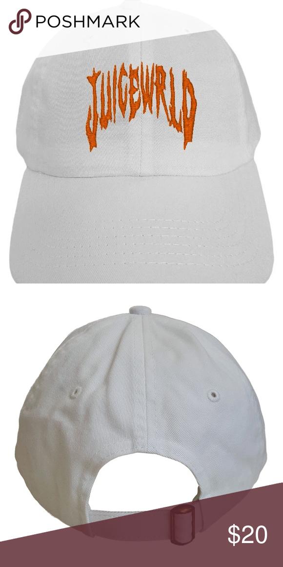 Juicewrld White Hat Panel Hat Sweatband Matching Fabrics