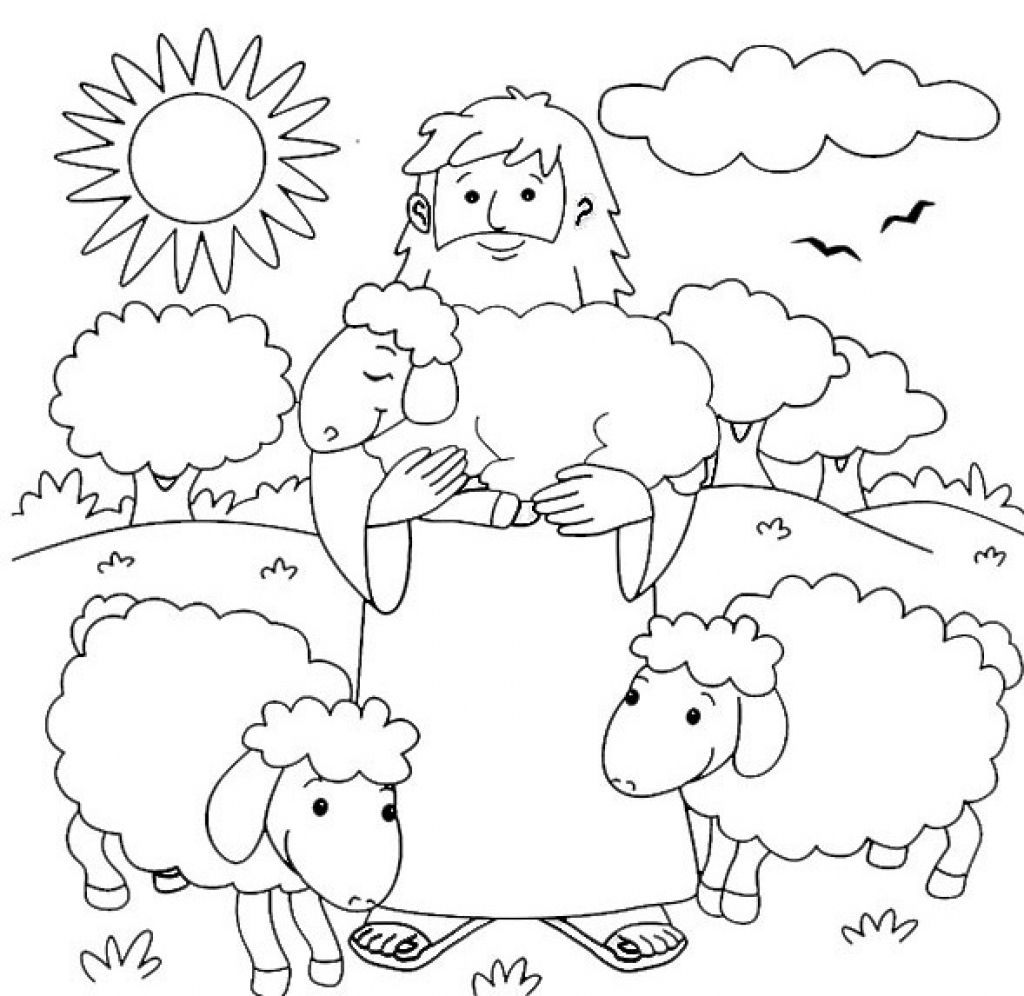 The Good Shepherd The Lost Sheep Sunday School Coloring Pages Jesus Coloring Pages Bible Crafts