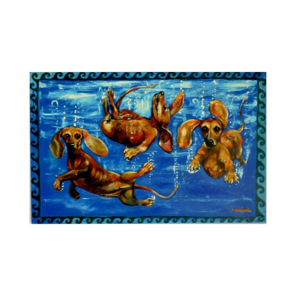 Dachshund Swimming Painting