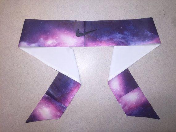 Custom Pink Galaxy Nike Dri-Fit Head Tie Headband - Black 85ecf3bc9ad