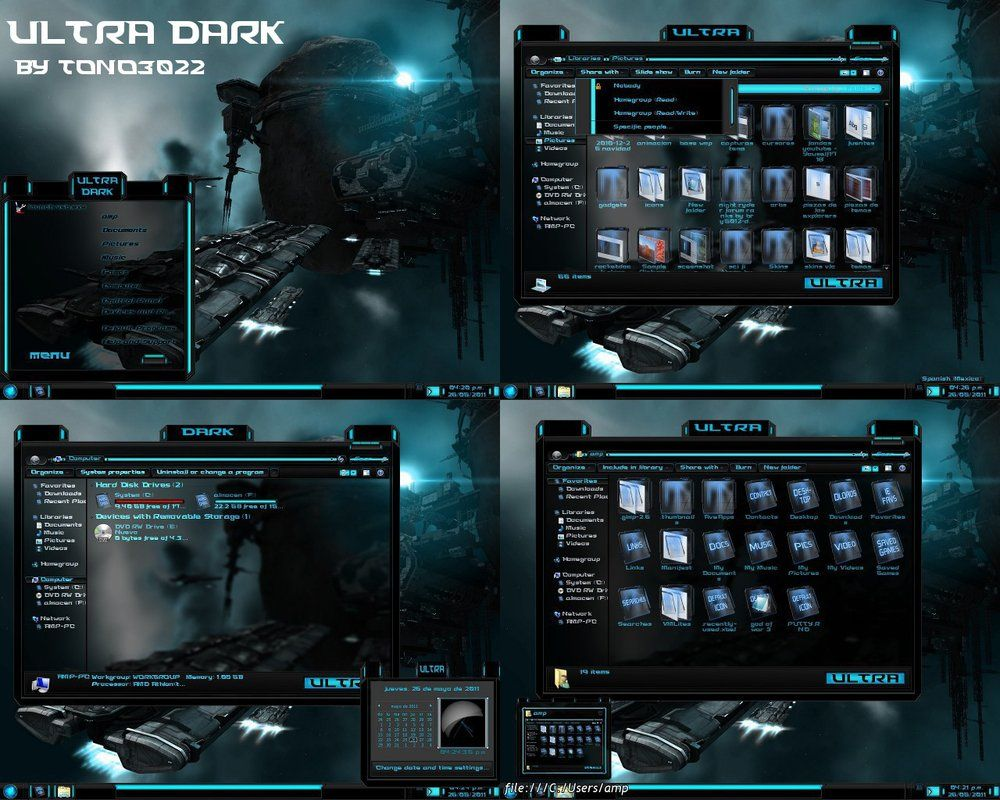 Free Download In Vitro Full Glass theme for Windows 7