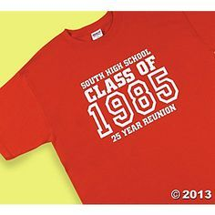 """Personalized """"Class Of"""" Red T-Shirts Group 