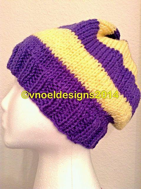 Ravelry: College Stripes Men's Knit Hat by V. Noël - free pattern