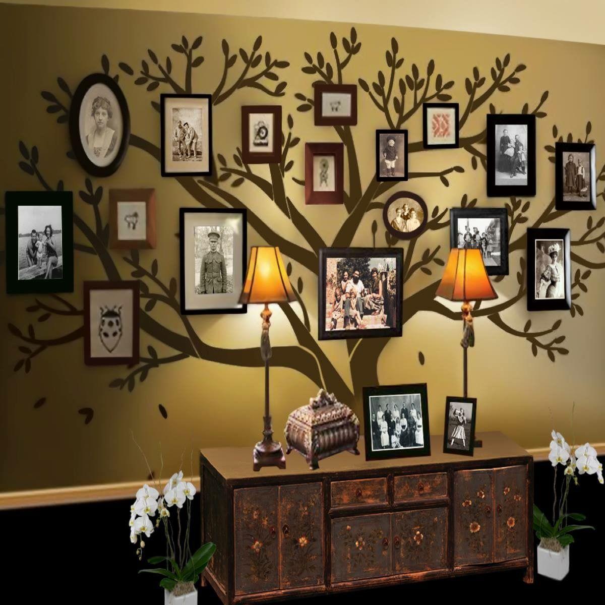 Attraktiv Collage Ideen Ideen Von Projekte, Baum Wandbilder, Wandbilder, Baum Wandtattoo, Familienzimmer,