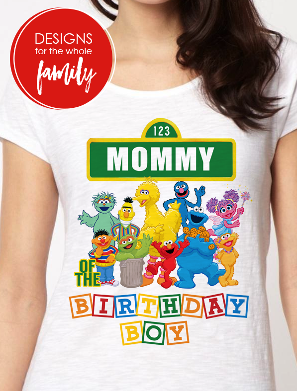 9c20c725 Sesame Street Birthday Iron On Transfer - Primary Colors - Mommy of ...