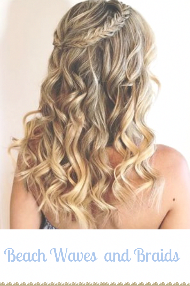 Beach Waves And Briads Are The Most Popular Wedding Hairstyle For Casual Wedding Hair Beach Waves Long Hair Wedding Hair Inspiration