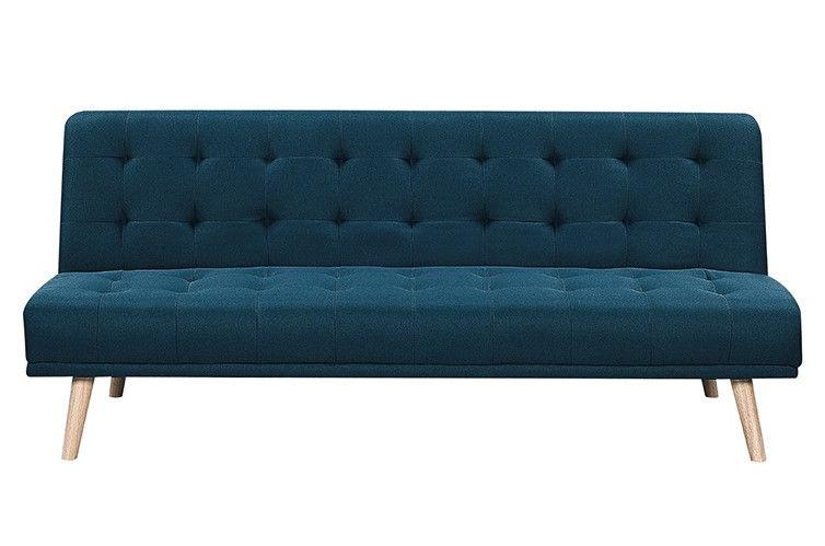Banquette Lit Clic Clac Velours Bleu Canard Davos En 2020 Bleu