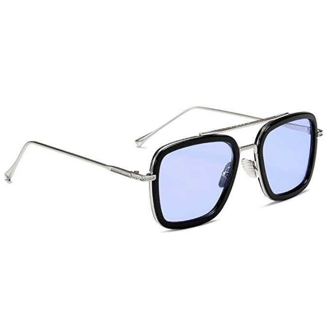 Buy Dervin Tony Stark Iron Man Avengers Infinity War Men S Sunglasses Spectacle Frames Silver Blue Spec Tony Stark Sunglasses Mens Sunglasses Shades For Men