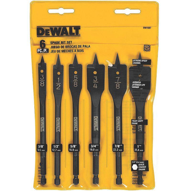 Dewalt Dw1587 Wood Boring Bit Set 6 Count Dewalt Drill Drill Bits Dewalt Tools