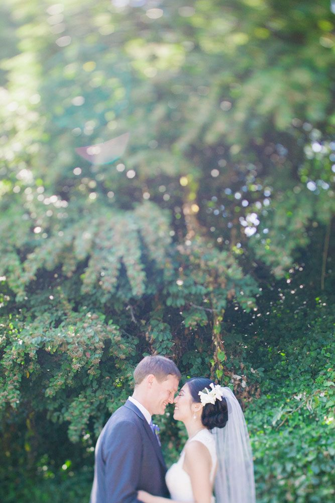 Neverending greenery was the perfect finishing touch on Jennifer and Jesse's album.  Tying in nature to your wedding photos is our favorite special touch.  Photos by Clane Gessel Photography | #weddings #photography #brideandgroom