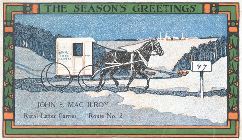 """December 21, 1915. The back of the postcard has a printed five stanza poem titled """"If"""""""