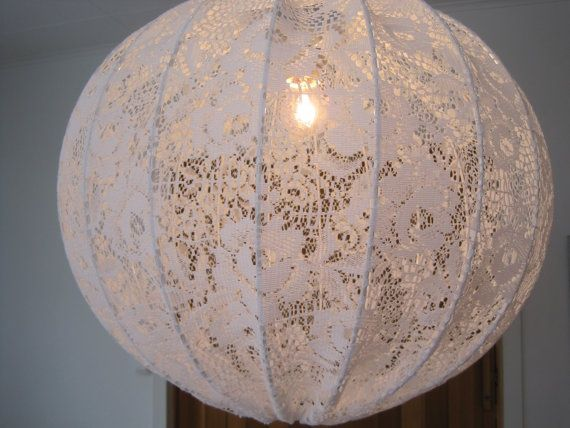Shabby chic hanging lights. DIY?