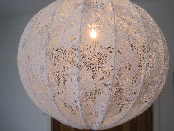 Shabby chic hanging lights. DIY?   DIY Crafts   Pinterest ...